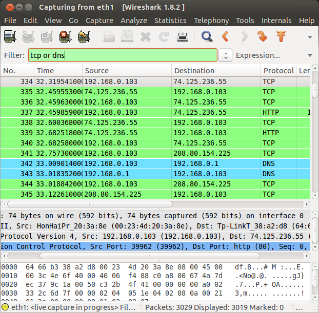 wireshark or filter